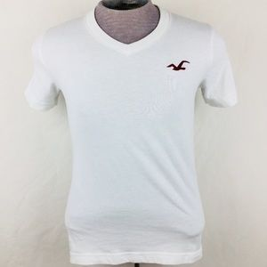 Hollister Men's White Short Sleeve T-Shirt Size S